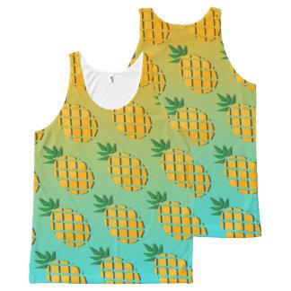 Regata Com Estampa Completa Abacaxi tropical do verão por todo o lado no