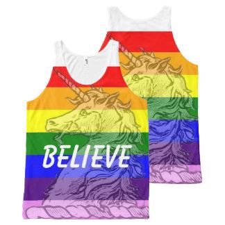 Regata Com Estampa Completa Acredite o orgulho gay do unicórnio LGBT do