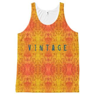 Regata Com Estampa Completa Amarelo do vintage