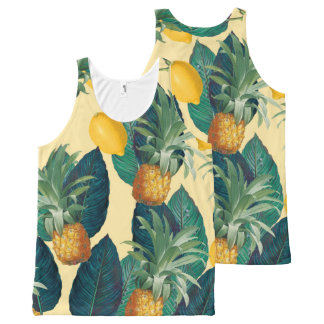Regata Com Estampa Completa amarelo dos limões dos abacaxis