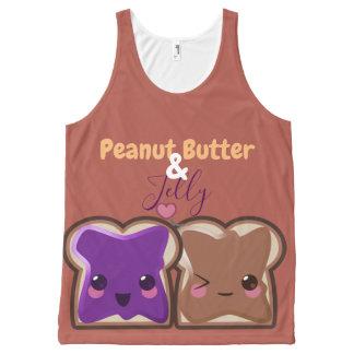 Regata Com Estampa Completa Amor da manteiga e da geléia de amendoim