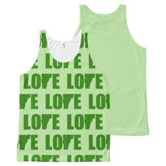 Regata Com Estampa Completa Amor de Vermont por todo o lado no verde da