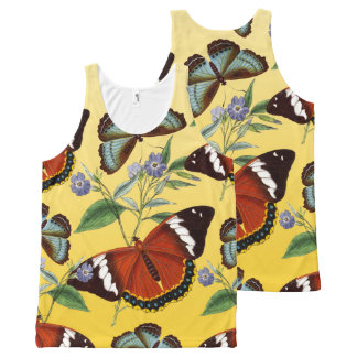 Regata Com Estampa Completa as borboletas misturam o amarelo