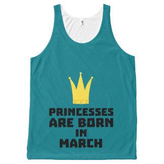 Regata Com Estampa Completa As princesas são em março Z60zh nascidos