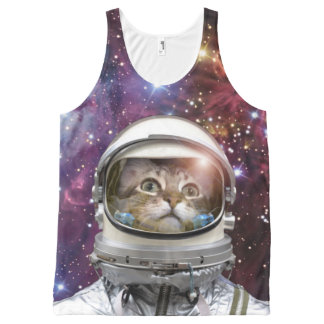 Regata Com Estampa Completa Astronauta do gato - gato louco - gato