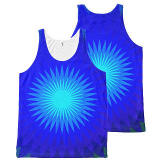 Regata Com Estampa Completa Azul elétrico