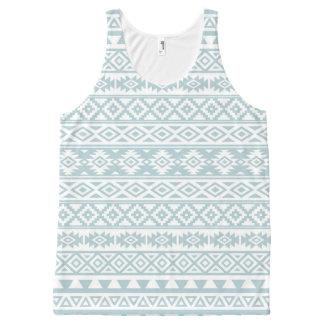 Regata Com Estampa Completa Azul estilizado asteca & branco do ovo do pato do