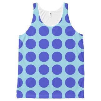 Regata Com Estampa Completa Azul Pastel das bolinhas azuis