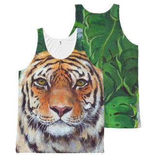 Regata Com Estampa Completa Bagheera o tigre por todo o lado no tanque do