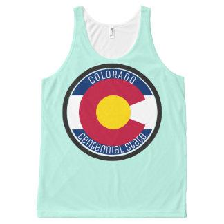 Regata Com Estampa Completa Bandeira da circular de Colorado
