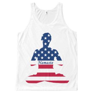 Regata Com Estampa Completa Bandeira da ioga do americano da meditação dos EUA