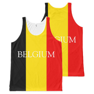 Regata Com Estampa Completa Bandeira de Bélgica