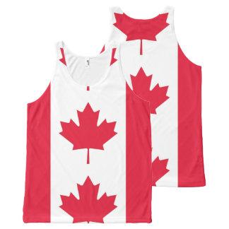 Regata Com Estampa Completa Bandeira de Canadá - Drapeau du Canadá