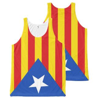 Regata Com Estampa Completa Bandeira de Catalonia