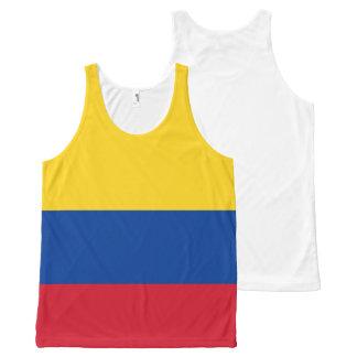 Regata Com Estampa Completa Bandeira de Colômbia - bandera de Colômbia