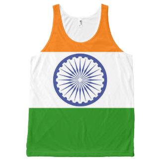 Regata Com Estampa Completa Bandeira de India Ashoka Chakra