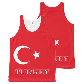 Regata Com Estampa Completa Bandeira de Turquia