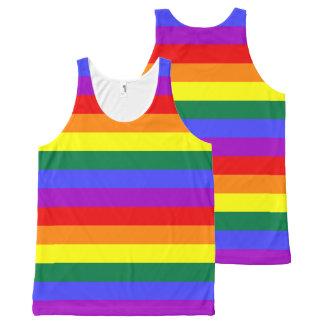 Regata Com Estampa Completa Bandeira do arco-íris do orgulho gay de LGBT