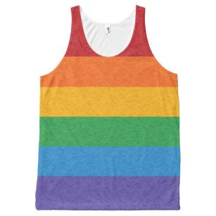 Regata Com Estampa Completa Bandeira do orgulho do arco-íris