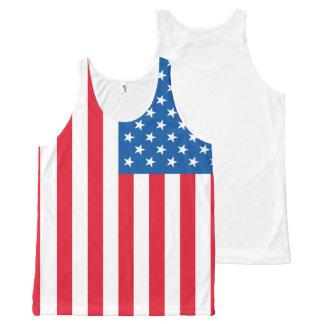 Regata Com Estampa Completa Bandeira dos Estados Unidos da bandeira dos EUA