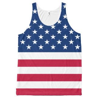 Regata Com Estampa Completa Bandeira EUA americanos de América