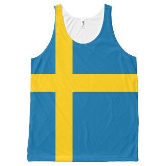 Regata Com Estampa Completa Bandeira nacional da suecia