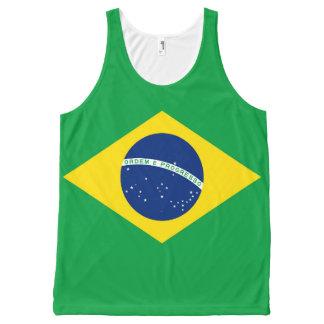 Regata Com Estampa Completa Bandeira nacional de Brasil, cor exata da