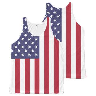 Regata Com Estampa Completa Bandeira nacional dos Estados Unidos da América
