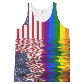 Regata Com Estampa Completa Bandeiras do americano & do orgulho gay