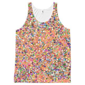 Regata Com Estampa Completa Brilho moderno #5 do grão do mosaico multicolorido