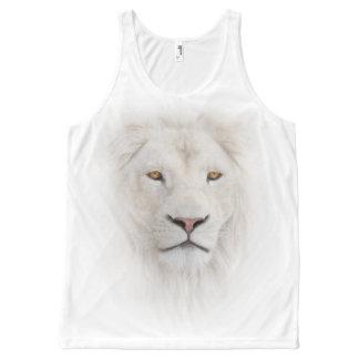 Regata Com Estampa Completa Cabeça branca do leão por todo o lado na camisola