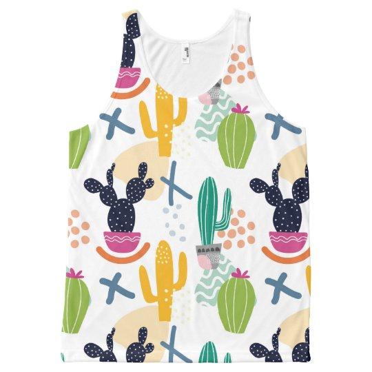 Regata Com Estampa Completa Cactus woman