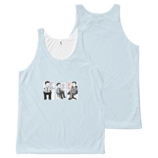 Regata Com Estampa Completa Camisa do pai do trabalho do número um em casa