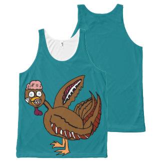 Regata Com Estampa Completa Camisa do peru do zombi