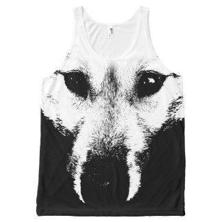 Regata Com Estampa Completa Camisas da camisola de alças do cão de filhote de