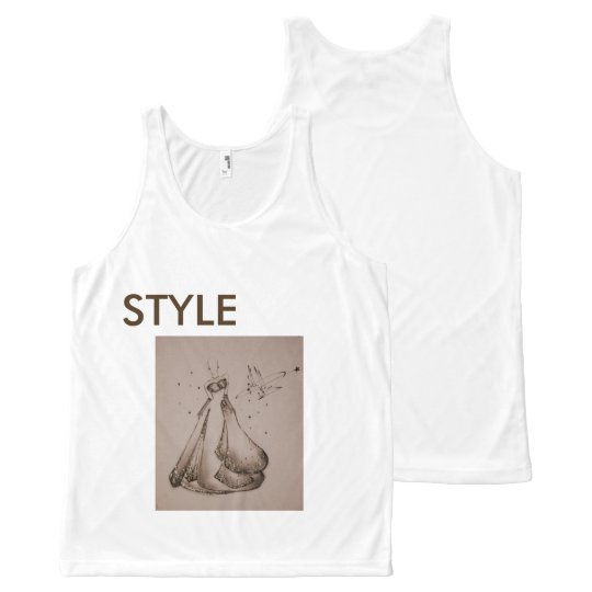 Regata Com Estampa Completa Camiseta estilosa