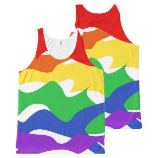 Regata Com Estampa Completa Camisola de alças abstrata do orgulho