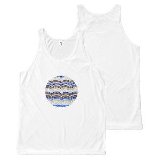 Regata Com Estampa Completa Camisola de alças azul redonda do mosaico