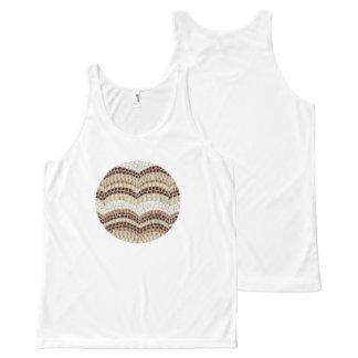 Regata Com Estampa Completa Camisola de alças bege redonda do mosaico
