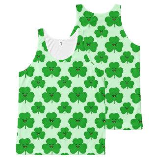 Regata Com Estampa Completa Camisola de alças bonito do dia de St Patrick