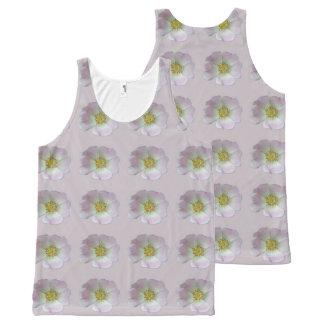 Regata Com Estampa Completa Camisola de alças com teste padrão de flor