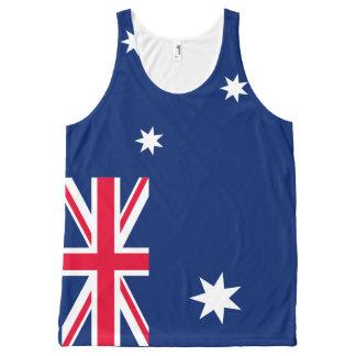 Regata Com Estampa Completa Camisola de alças da bandeira de Austrália