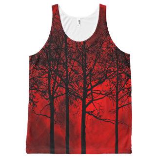 Regata Com Estampa Completa Camisola de alças da lua do sangue