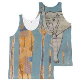 Regata Com Estampa Completa Camisola de alças da música do elefante