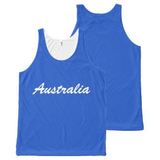 Regata Com Estampa Completa Camisola de alças de Austrália da equipe