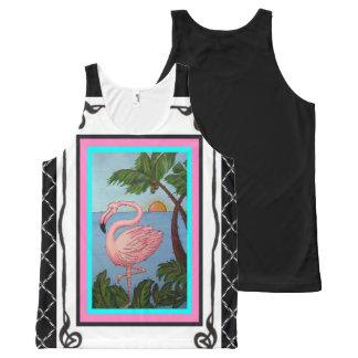 Regata Com Estampa Completa Camisola de alças dois do paraíso do flamingo