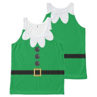 Regata Com Estampa Completa Camisola de alças engraçada do duende do Natal do