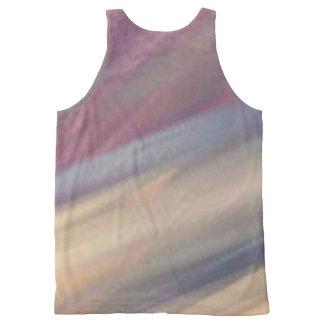 Regata Com Estampa Completa Camisola de alças macia das cores