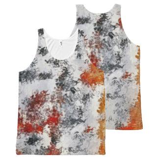 Regata Com Estampa Completa Camisola de alças misturada das cores