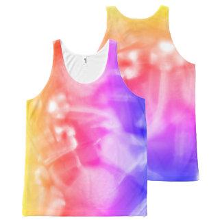 Regata Com Estampa Completa Camisola de alças unisex colorida